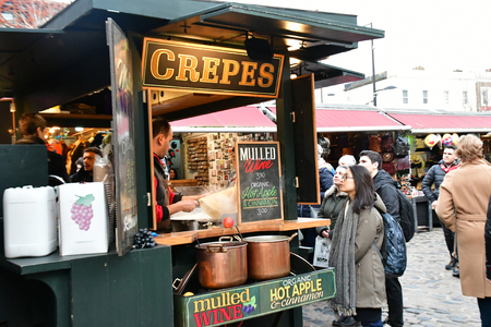 London, England - march 11 2018 : the picturesque Camden market