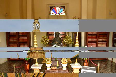 Phnom Penh; Kingdom of Cambodia - august 20 2018 : the throne hall of the Royal Palace Redakční