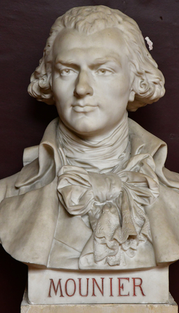 Versailles; France - june 16 2019 : bust of deputy in the tennis court oath room Editorial