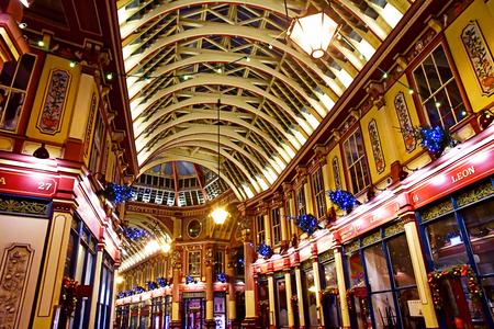London, England - december 23 2017 : the Leadenhall market in Gracechurch street Sajtókép