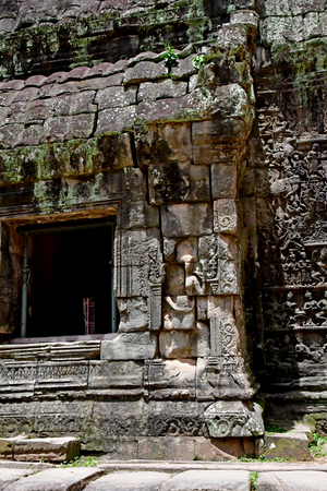 Siem Reap; Kingdom of Cambodia - august 24 2018 : the Ta Prohm temple 新聞圖片