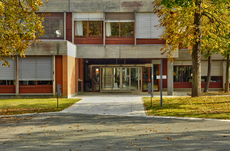 Les Mureaux; France - september 16 2017 : the Forum, a congress site, in Becheville district