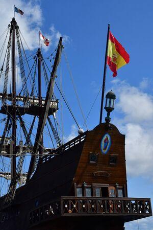 Saint Malo; France - july 28 2019 : El Galeon, a spanish galleon