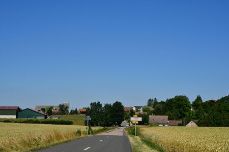 Guitry; France - july 2 2019 : the picturesque village