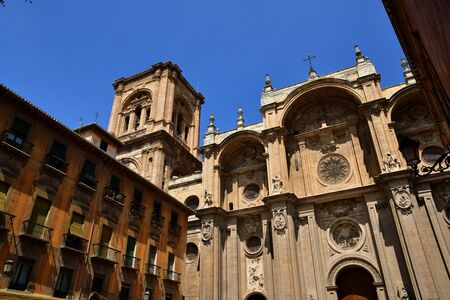 Granada; Spain - august 27 2019 : the incarnation cathedral built in the 16th century