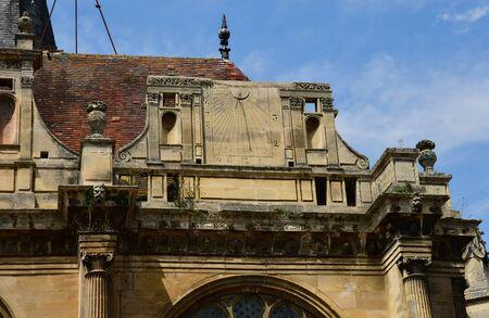 Magny en Vexin , France - july 27 2017 : the picturesque Notre Dame renaissance church