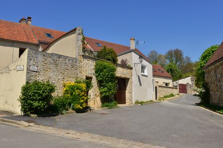 Fremainville, France - may 4 2018 : the picturesque village
