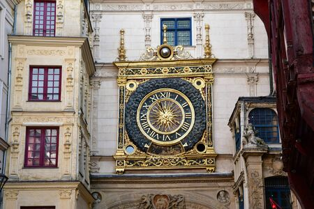 Rouen, France - september 9 2018 : the Gros Horloge, a renaissance monument which is the symbol of the city