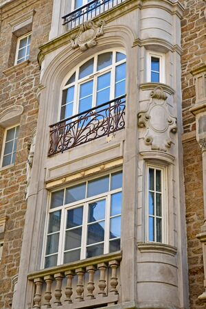 Dinard; France - july 23 2019 : the picturesque city in summer