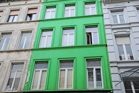 Belgium, a green house in the picturesque city of Brussels