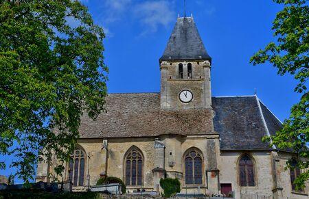 Berthenonville, France - april 3 2017 : the saint ouen church