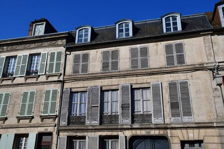 Magny en Vexin; France - april 3 2017 : the picturesque historical centre of the city Stock fotó