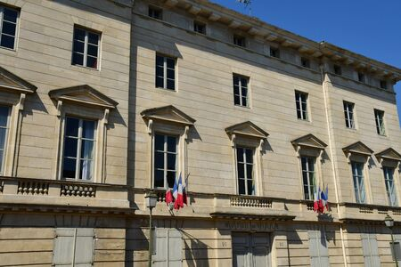Magny en Vexin , France - august 8 2018 : the city hall
