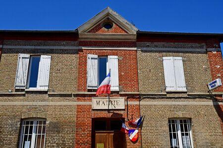 Harquency; France - july 2 2019 : the city hall Фото со стока