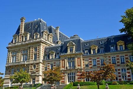 Versailles, France - september 2 2018 : the city hall Фото со стока