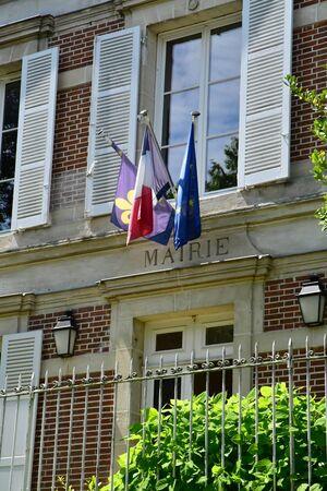 Wy dit joli village; France - may 24 2019 : the city hall Фото со стока - 130158331