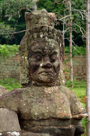 Siem Reap; Koninkrijk Cambodja - 24 augustus 2018: de tempel van Angkor Thom