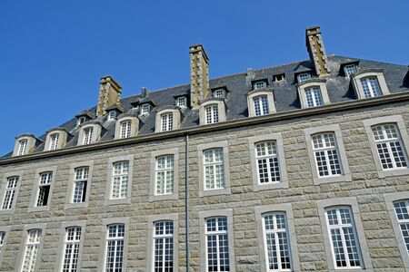 Saint Malo; France - july 28 2019 : the picturesque city in summer