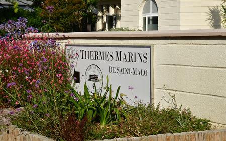 Saint Malo; France - july 28 2019 : les thermes marins de saint malo Archivio Fotografico - 130194921