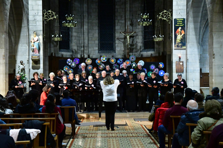Les Mureaux, France - december 13 2018 : a choir in Saint Pierre Saint Paul church