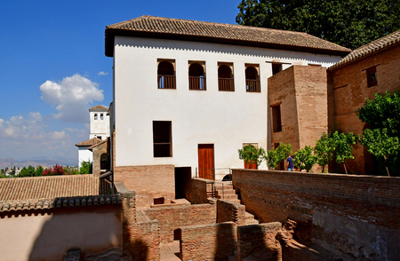 Granada; Spain - august 27 2019 : the Alhambra palace