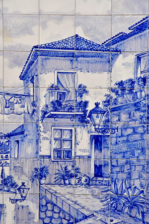 Granada; Spain - august 27 2019 : azulejos in the old city center