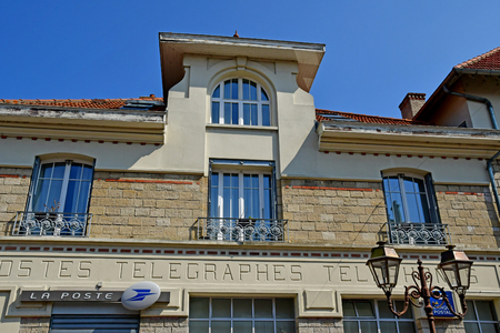Poissy, France - april 11 2019 : the post office Editorial