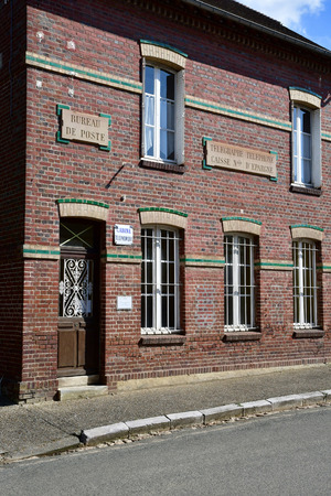 Boury en Vexin, France - april 3 2017 : the picturesque old post office