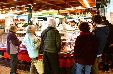 Poissy; France - april 7 2019 : food at the market Publikacyjne