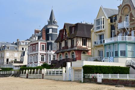 Trouville, France - august 18 2016 : stylish villa on the seaside
