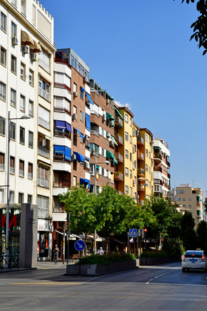 Granada; Spain - august 27 2019 : the modern part of the city 에디토리얼