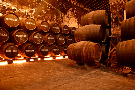 El Puerto de Santa Maria, Spain - august 26 2019 : the Osborne sherry cellars Redakční