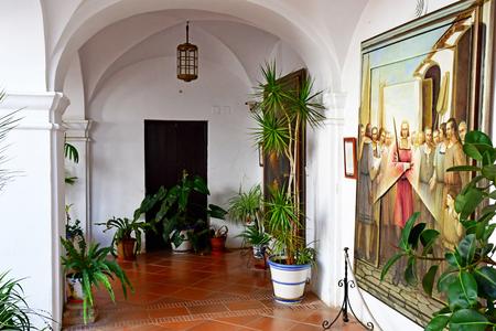 Palos de la Frontera; Spain - august 28 2019 : Friary of la Rabida Redactioneel