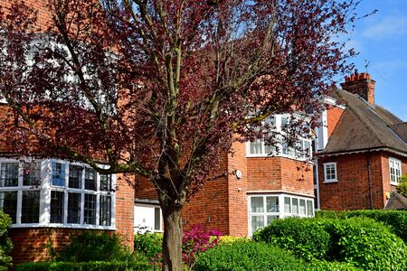 London; Hampstead, England - may 5 2019 : the city of Hampstead in spring