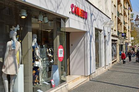 Mantes la Jolie; France - april 12 2019 : cloth shop in the city centre