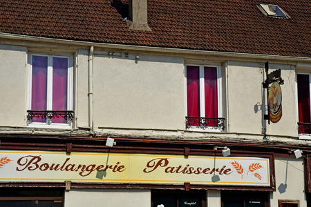 Mantes la Jolie; France - april 12 2019 : bakery pastry in the city centre