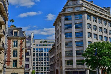 Paris; France - april 2 2017 : the Marceau avenue in the 8 th arrondissement