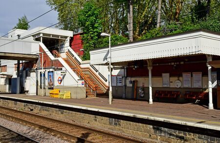 London; Hampstead, England - may 5 2019 : the station of Hampstead Heath