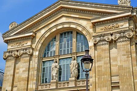 Paris; France - may 1 2019 : the Paris Nord station main facade Editorial