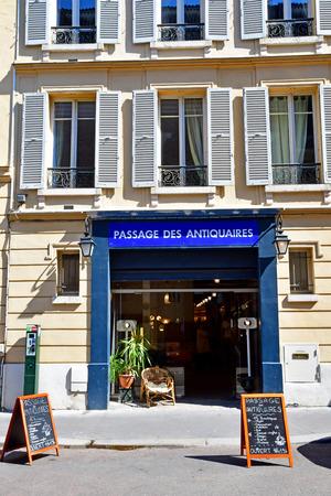 Versailles; France - april 20 2019 : antique dealer passage the Notre Dame district