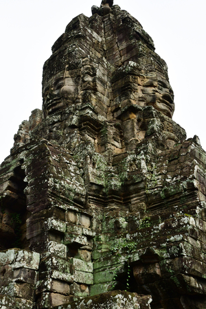 Siem Reap; Kingdom of Cambodia - august 24 2018 : the Angkor Bayon temple Sajtókép