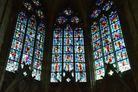 Mantes la Jolie; France - april 12 2019 : the gothic collegiate church