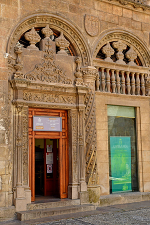 Granada; Spain - august 27 2019 : the royal chapel built by the queen Isabella and the king Ferdinand in 1505 Sajtókép