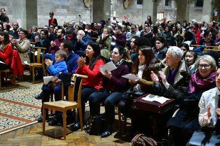 Les Mureaux, France - december 13 2018 : a choir in Saint Pierre Saint Paul church Editorial