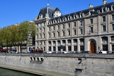 Paris; France - april 2 2017 : the quai des orfevres