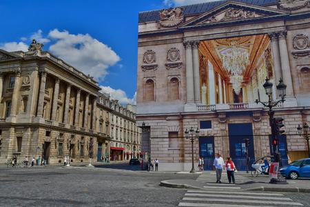 Paris; France - april 2 2017 : hotel de la Marine in the Place de la Concorde