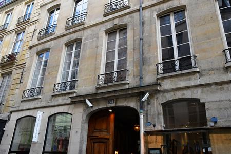 Paris; France - april 2 2017 : shop in the ile saint louis