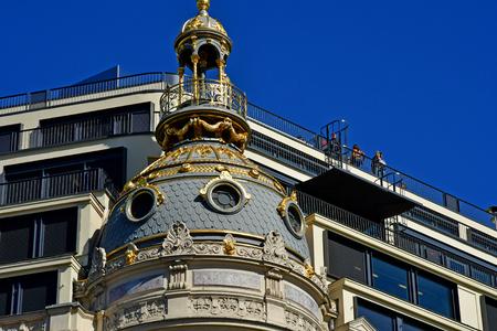 Paris; France - september 30 2018 : Le Printemps, a famous department store