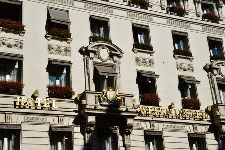 Paris; France - april 2 2017 : Westminster hotel in the rue de la Paix