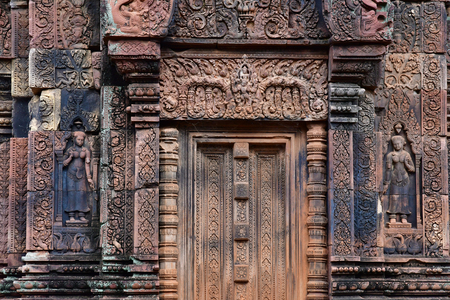 Siem Reap; Kingdom of Cambodia - august 24 2018 : the Banteay Srei temple Sajtókép